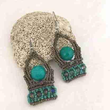 orecchini con pietra di giada