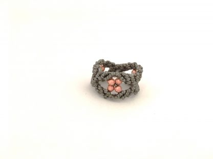 anello con ematite rosa 3