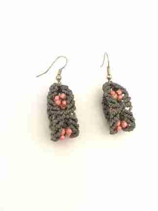 orecchini con ematite rosa